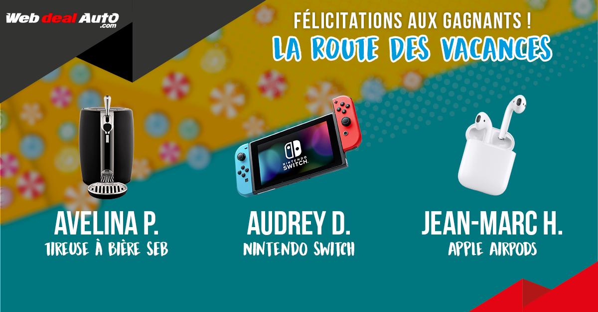 Resultats Jeu Concours La Route Des Vacances