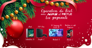 Liste des gagnants – Opération de Noël avec NPS et MEYLE